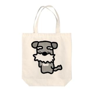 シュナ!はかしこそうな犬! Tote bags