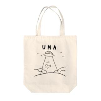 UMAアブダクション Tote bags