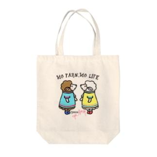 No Yarn,No Life-ひつじーず Tote bags