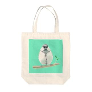 ひとやすみシジュウカラ Tote bags