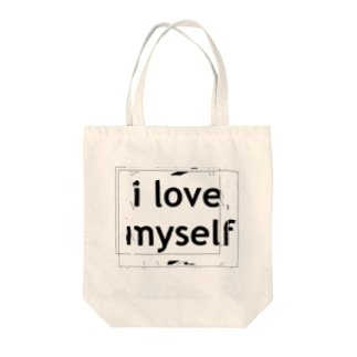 mind your wordsのi love myself Tote bags