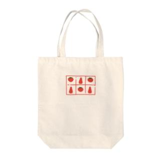 トマトとケチャップの柄 Tote bags