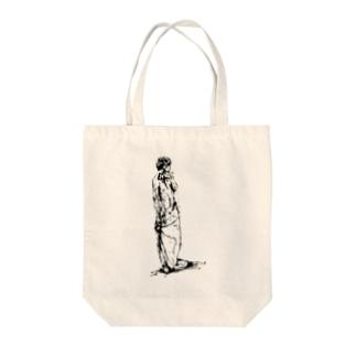 半裸の男性 Tote bags