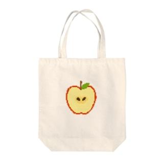 ドット絵りんご Tote bags