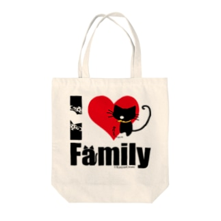 I LOVE Family Tote bags