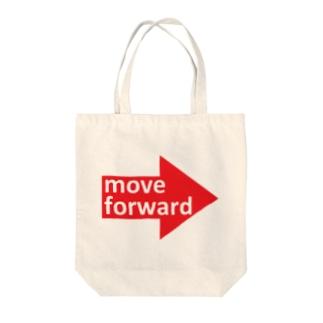 move forward Tote bags