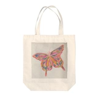 フラフラバタフライ Tote bags