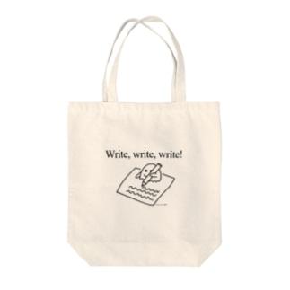 Write, write, write! Tote bags