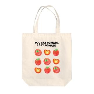 トマトデザイン「埒が明かない」 Tote bags
