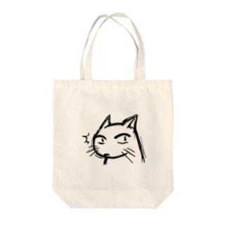 猫のような何か。 Tote bags