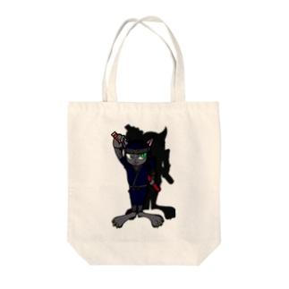忍者ねこ(='x'=) Tote bags