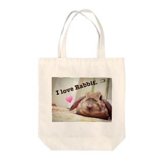 I love Rabbit. Tote bags