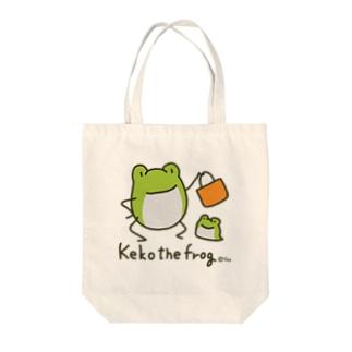 【けこがえる】おかいもの(カラー) Tote bags
