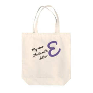 My name starts with letter E Tote bags