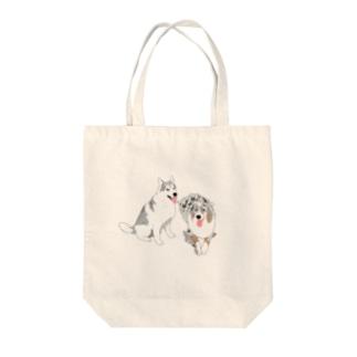 しゃるむちゃん&リアンくん Tote bags