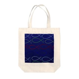ふかくふかく Tote bags
