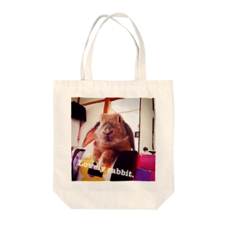 Lovely rabbit. Tote bags