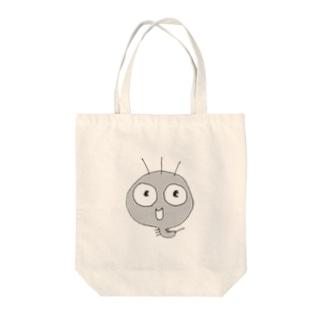頭でっかちケムタン Tote bags