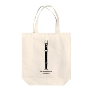こむら*綾のソプラノリコーダー Tote bags