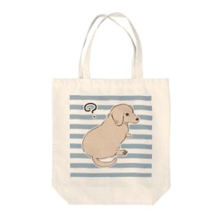 見返り美犬 Tote bags