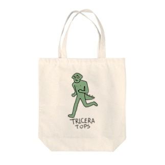 Triceratops Tote bags