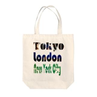 Tokyo×London×New York Tote bags