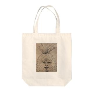 強面のパイナップル Tote bags