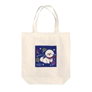 ビションフリーゼ:イルミネーションツリー Tote bags