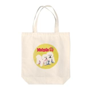 mahalo's bichon y-01 Tote bags