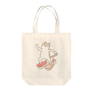 すしライダー Tote bags