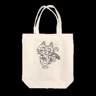 Catoneのウード猫おめめぱっちりバージョン モノクロ Tote bags