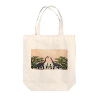 サンセット Tote bags