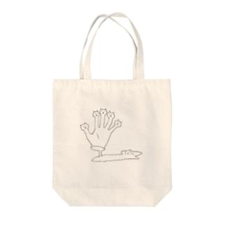 くびネッコ(ハンド)改 Tote bags