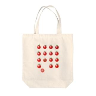 オハデザインのプチトマト Tote bags