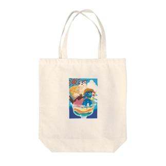 夏祭りパフェ Tote bags