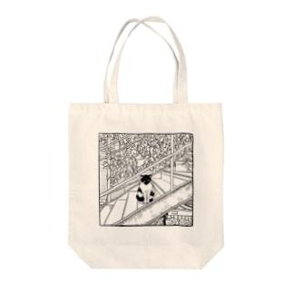 ネコ Tote bags