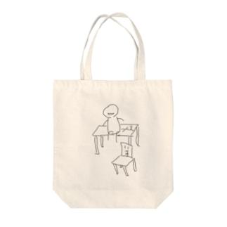 sit on a desk〜机の上のキミ〜 Tote bags
