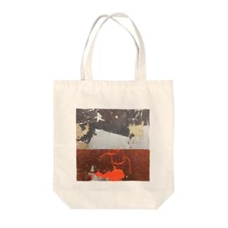銀と赤 Tote bags