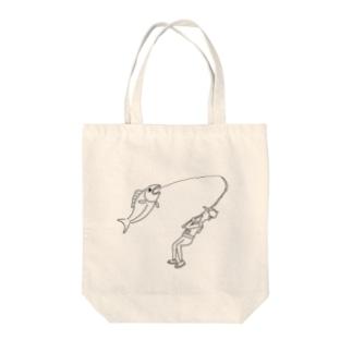 オオモノツリ Tote bags