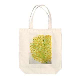 黄色いお花の Tote bags