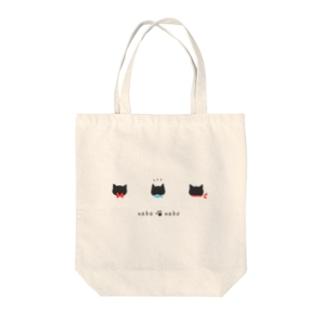 neko・neko【赤リボン】 Tote bags