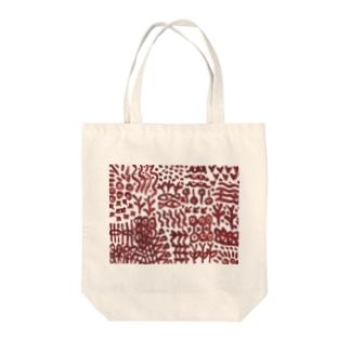 壁画に似た文様 Tote bags