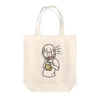 タピオカタピっとけ Tote bags