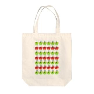 りんごちゃんりんごくん Tote bags