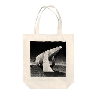 monochrome polar bear Tote bags