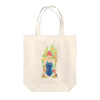 楽園のプール バッグ Tote bags