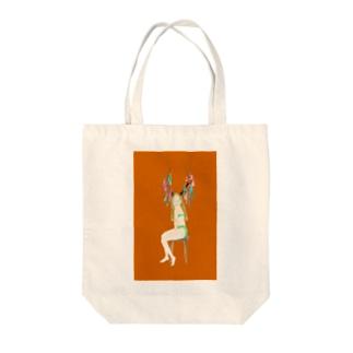 鹿女 オレンジちゃん バッグ Tote bags