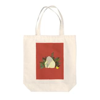 ドロ沼のもり オレンジちゃん バッグ Tote bags