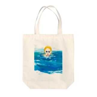 In the pool  Tote bags