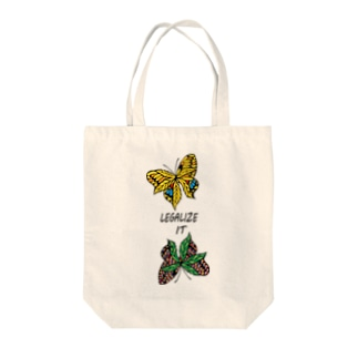 AKRstyle - butterfly × marijuana Tote bags